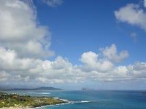 Vista dell'oceano dall'allerta di Makapuu all'isola di Oahu Fotografia Stock Libera da Diritti
