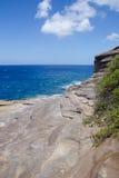 Vista dell'oceano dalle caverne dell'emissione Fotografia Stock