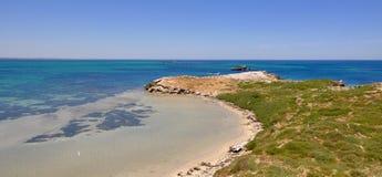 Vista dell'Oceano Indiano: Isola del pinguino, Australia occidentale Immagini Stock Libere da Diritti