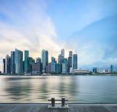 Vista dell'orizzonte centrale di Singapore Fotografia Stock Libera da Diritti