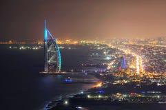 Vista dell'orizzonte del Dubai, Dubai, Emirati Arabi Uniti Fotografia Stock Libera da Diritti
