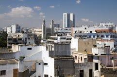vista dell'orizzonte del tetto di Casablanca Marocco Fotografie Stock Libere da Diritti