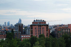 Vista dell'orizzonte della città Immagini Stock Libere da Diritti