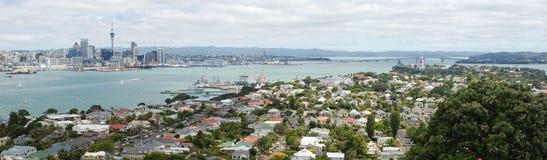 Vista dell'orizzonte della città di Auckland Fotografie Stock Libere da Diritti