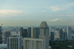 Vista dell'orizzonte della città di Singapore Fotografie Stock