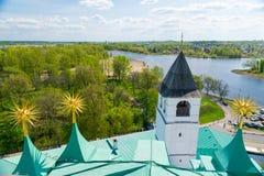 Vista dell'orizzonte della città di Yaroslavl della Russia Immagine Stock