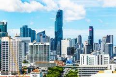 Vista dell'orizzonte di Bangkok il bello giorno soleggiato Fotografia Stock