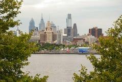 Vista dell'orizzonte di Filadelfia immagini stock libere da diritti