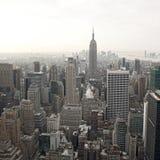 Vista dell'orizzonte di New York City da Rockefeller fotografia stock libera da diritti