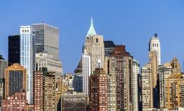 Vista dell'orizzonte di New York da Hudson Fotografia Stock
