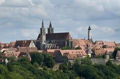 Vista dell'orizzonte di Rothenburg Fotografie Stock Libere da Diritti