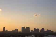 Vista dell'orizzonte di sera in anticipo di Fort Lauderdale fotografie stock libere da diritti