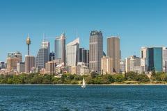 Vista dell'orizzonte di Sydney City CBD - Australia Immagini Stock