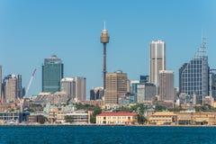 Vista dell'orizzonte di Sydney City CBD - Australia Fotografia Stock Libera da Diritti