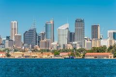 Vista dell'orizzonte di Sydney City CBD - Australia Immagine Stock Libera da Diritti