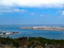 Vista dell'orizzonte dell'isola del nord fotografie stock