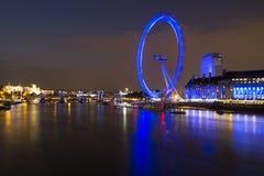 Vista dell'orizzonte dell'occhio di Londra immagini stock libere da diritti