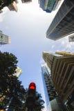 vista dell'Pesce-occhio dell'orizzonte di Singapore Fotografie Stock