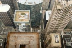 Vista dell'uccello-occhio del Chicago Immagine Stock Libera da Diritti