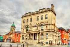 Vista dell'ufficio di tassi a Dublino Fotografie Stock Libere da Diritti