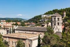 Vista dell'università di Girona Immagini Stock Libere da Diritti