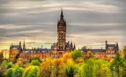 Vista dell'università di Glasgow Fotografie Stock