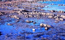 Vista della baia bassa dell'acqua di mare Fotografia Stock Libera da Diritti