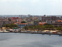 Vista della baia di Avana Fotografia Stock Libera da Diritti
