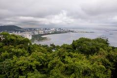 Vista della baia di Botafogo in Rio de Janeiro fotografia stock
