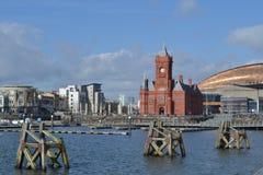 Vista della baia di Cardiff Fotografia Stock