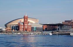 Vista della baia di Cardiff Fotografie Stock