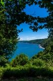Vista della baia di Clovelly Fotografie Stock Libere da Diritti