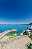 Vista della baia di Clovelly Fotografia Stock