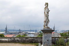 Vista della baia di Ferrol dal parco di San Francisco Fotografia Stock Libera da Diritti