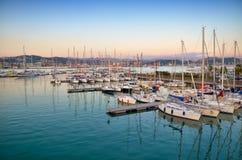 Vista della baia di La Spezia, Italia Immagini Stock