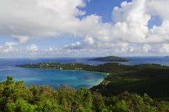 Vista della baia di Magens in st Thomas, USVI Fotografia Stock