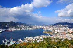 Baia di Nagasaki immagine stock