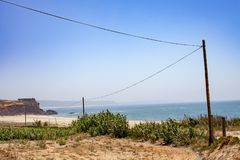 Vista della baia di Nazaré Fotografia Stock Libera da Diritti