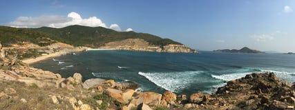 Vista della baia di Nha Trang, Vietnam Fotografia Stock Libera da Diritti
