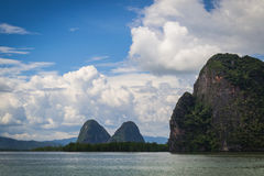 Vista della baia di Phang Nga Immagini Stock