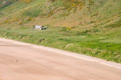 Vista della baia di Rhossili dalla scogliera Immagine Stock Libera da Diritti