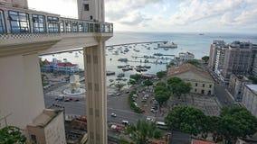Vista della baia di tutti i san dal Tomé de Souza Square Fotografia Stock