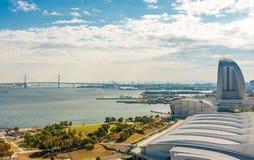 Vista della baia di Yokohama Fotografia Stock Libera da Diritti