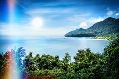 Vista della baia famosa di Damai nel sud-ovest Borneo fotografia stock libera da diritti