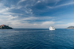 Vista della baia vicino all'isola di Elba, Toscana Italia Immagini Stock Libere da Diritti