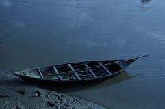 Vista della barca di fiume fotografia stock