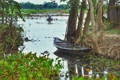Vista della barca di fiume fotografia stock libera da diritti