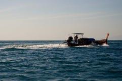 Vista della barca di Longtail Fotografia Stock