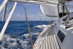 Vista della barca a vela fotografia stock