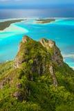 Vista della barriera corallina, Maupiti, Polynes francese Fotografie Stock Libere da Diritti